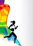 Τρέχοντας αθλητικό υπόβαθρο Στοκ Εικόνα