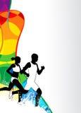 Τρέχοντας αθλητικό υπόβαθρο Στοκ Φωτογραφία