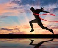 Τρέχοντας αθλητισμός Δρομέας ατόμων και κώλυμα Στοκ φωτογραφία με δικαίωμα ελεύθερης χρήσης