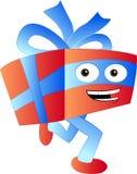Τρέχοντας απεικόνιση κινούμενων σχεδίων δώρων Απεικόνιση αποθεμάτων