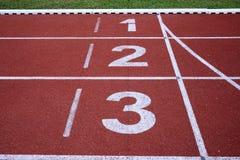 Τρέχοντας αριθμοί ένα διαδρομής δύο τρία Στοκ φωτογραφίες με δικαίωμα ελεύθερης χρήσης
