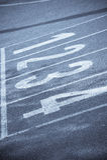 Τρέχοντας γραμμές διαδρομής Στοκ φωτογραφία με δικαίωμα ελεύθερης χρήσης