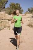 τρέχοντας γυναίκα ιχνών Στοκ εικόνες με δικαίωμα ελεύθερης χρήσης