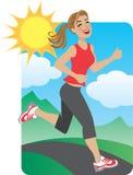 τρέχοντας γυναίκα πάρκων διανυσματική απεικόνιση