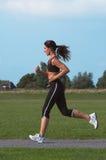 τρέχοντας γυναίκα Στοκ Φωτογραφία