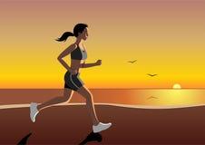 τρέχοντας γυναίκα ελεύθερη απεικόνιση δικαιώματος