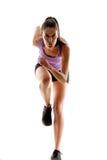 Τρέχοντας γυναίκα. στοκ φωτογραφίες