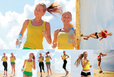 τρέχοντας γυναίκες Στοκ Εικόνα