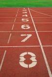 τρέχοντας διαδρομή έναρξης αριθμού Στοκ φωτογραφία με δικαίωμα ελεύθερης χρήσης
