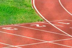 τρέχοντας διαδρομή αθλητ& Στοκ φωτογραφίες με δικαίωμα ελεύθερης χρήσης