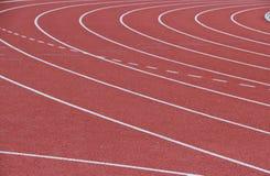 Τρέχοντας διαδρομή στο στάδιο Στοκ Εικόνα