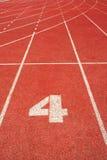 τρέχοντας διαδρομή 4 γραμμών Στοκ Φωτογραφία