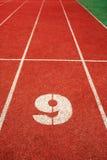 τρέχοντας διαδρομή 9 γραμμών Στοκ εικόνες με δικαίωμα ελεύθερης χρήσης