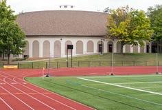 Τρέχοντας διαδρομή, Frank Bailey Field, κολλέγιο ένωσης Στοκ Φωτογραφία