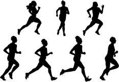 τρέχοντας διανυσματικές & Στοκ εικόνα με δικαίωμα ελεύθερης χρήσης