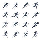 Τρέχοντας εικονίδια ανδρών και γυναικών Στοκ Φωτογραφίες