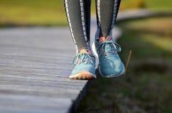 Τρέχοντας εξισορρόπηση παπουτσιών Στοκ Εικόνες