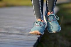 Τρέχοντας εξισορρόπηση παπουτσιών Στοκ Φωτογραφίες