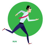 Τρέχοντας επιχειρηματίας στο κοστούμι Στοκ εικόνα με δικαίωμα ελεύθερης χρήσης