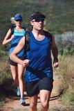 Τρέχοντας ζεύγος ιχνών Στοκ Φωτογραφία