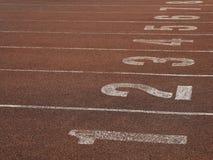 Τρέχοντας διαδρομή αγώνα Στοκ φωτογραφία με δικαίωμα ελεύθερης χρήσης