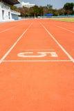 τρέχοντας διαδρομή 5 αριθμ&o Στοκ φωτογραφία με δικαίωμα ελεύθερης χρήσης