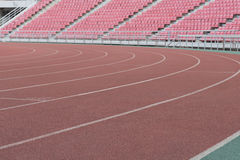 Τρέχοντας διαδρομή για τους αθλητές (εκλεκτική εστίαση) Στοκ εικόνες με δικαίωμα ελεύθερης χρήσης