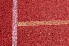 Τρέχοντας διαδρομή με την άσπρη σύσταση γραμμών Στοκ φωτογραφίες με δικαίωμα ελεύθερης χρήσης