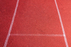Τρέχοντας διαδρομή με την άσπρη σύσταση γραμμών Στοκ Εικόνα