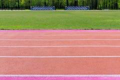 Τρέχοντας διαδρομή με το χαρακτηρισμό Στοκ Εικόνα