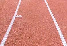 Τρέχοντας διαδρομή με το χαρακτηρισμό Στοκ Εικόνες