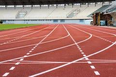 τρέχοντας διαδρομή σταδίων Στοκ Εικόνες