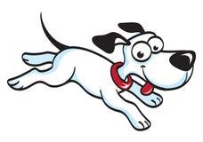 Τρέχοντας κινούμενα σχέδια σκυλιών Στοκ φωτογραφία με δικαίωμα ελεύθερης χρήσης