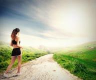 Τρέχοντας κορίτσι Στοκ Φωτογραφίες
