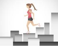 Τρέχοντας κορίτσι Στοκ εικόνες με δικαίωμα ελεύθερης χρήσης