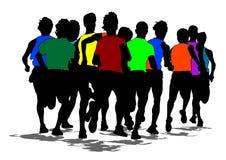 Τρέχοντας μαραθώνιος δύο ελεύθερη απεικόνιση δικαιώματος