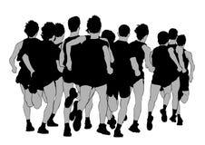 Τρέχοντας μαραθώνιος τρία ελεύθερη απεικόνιση δικαιώματος
