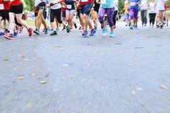 Τρέχοντας μαραθώνιος Στοκ Εικόνα