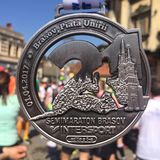 Τρέχοντας μετάλλιο στοκ φωτογραφία