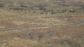 Τρέχοντας μετατόπιση κλίσης φαραγγιών ερήμων απόθεμα βίντεο