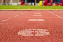 Τρέχοντας πάροδοι διαδρομής και αριθμού Στοκ εικόνες με δικαίωμα ελεύθερης χρήσης