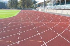 τρέχοντας πανεπιστήμιο δι Στοκ Εικόνα