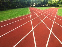 Τρέχοντας περίληψη διαδρομής στοκ εικόνα
