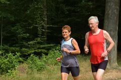τρέχοντας πρεσβύτερος ζ&epsi Στοκ Εικόνα