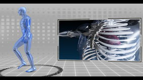 Τρέχοντας σκελετός που ανιχνεύεται απεικόνιση αποθεμάτων