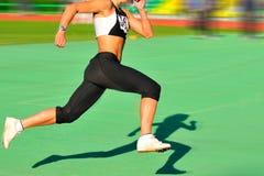 τρέχοντας σκιά Στοκ εικόνες με δικαίωμα ελεύθερης χρήσης