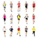 Τρέχοντας σκιαγραφίες ανθρώπων απεικόνιση αποθεμάτων
