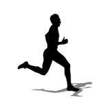 Τρέχοντας σκιαγραφίες Στοκ Εικόνες