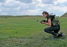τρέχοντας στρατιώτης στοκ φωτογραφία