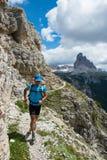τρέχοντας συγκινήσεις στα βουνά Στοκ Εικόνα